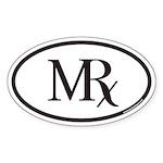 MRx Pharmacy Euro Oval Sticker
