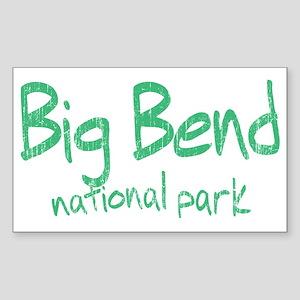Big Bend National Park (Graffiti) Sticker (Rectang