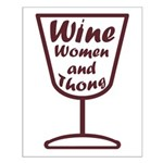 wine women and Small Poster