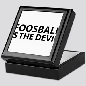 Foosball Is The Devil Keepsake Box