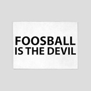 Foosball Is The Devil 5'x7'Area Rug