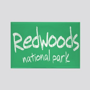 Redwoods National Park (Graffiti) Rectangle Magnet