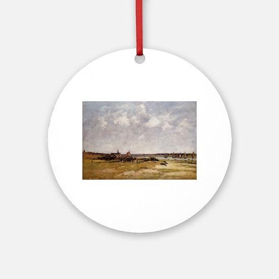 Eugene Boudin - Etaples, La Canache Round Ornament
