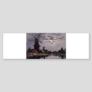 Eugene Boudin - Dutch Windmills Bumper Sticker