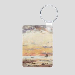Eugene Boudin - Ebb on sunset Keychains