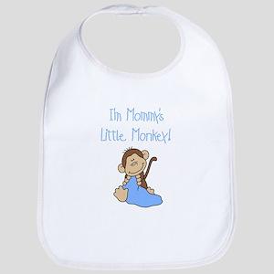 Mommy's Monkey(blue) Bib