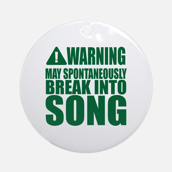 Cute Song Round Ornament