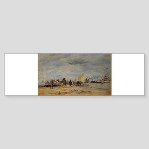 Eugene Boudin - Deauville, the Jett Bumper Sticker
