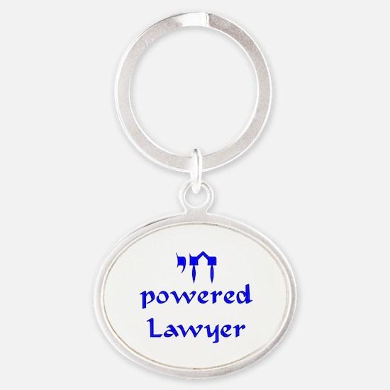 Cute Lawyer dad Oval Keychain