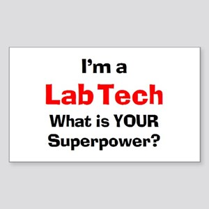 lab tech Sticker (Rectangle)