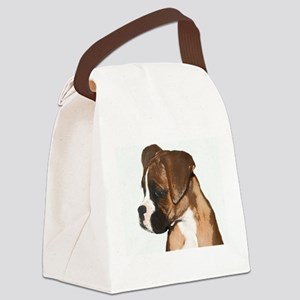 Boxer Puppy Canvas Lunch Bag