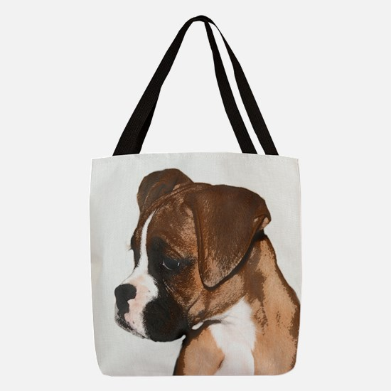 Boxer Puppy Polyester Tote Bag