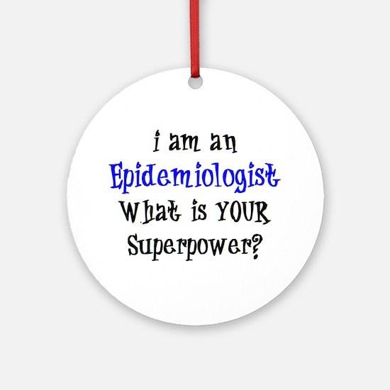 epidemiologist Round Ornament
