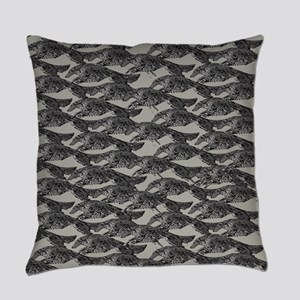 Leaping Borzoi Everyday Pillow