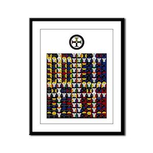 Enochian Earth Watchtower Framed Panel Print