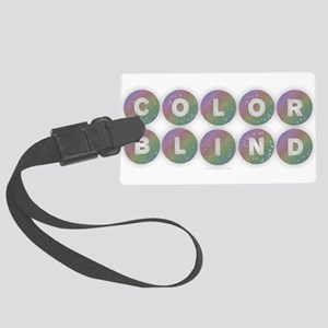 Colorblind - Rainbow Large Luggage Tag