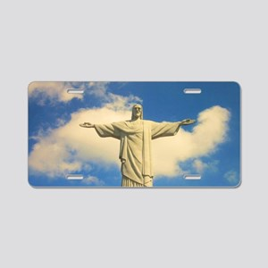 Christ the Redeemer Aluminum License Plate