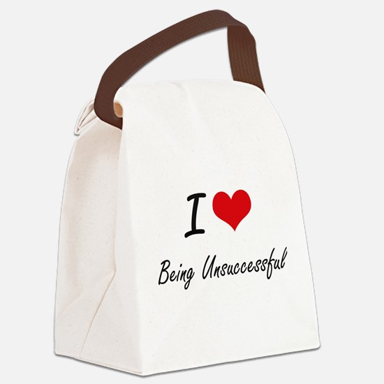I love Being Unsuccessful Artisti Canvas Lunch Bag