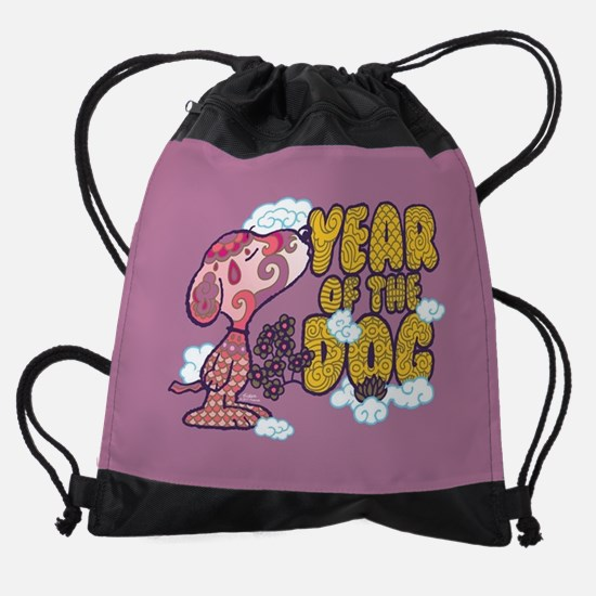 Snoopy Year of the Dog Barking Drawstring Bag