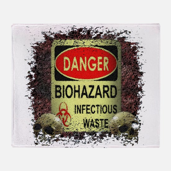 INFECTIOUS WASTE Throw Blanket