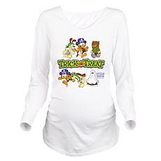 Trick or Treat Long Sleeve Maternity T-Shirt