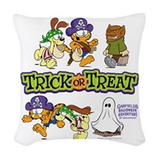 Trick Or Treat Woven Throw Pillow