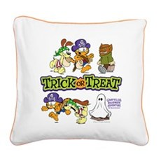 Trick Or Treat Square Canvas Pillow