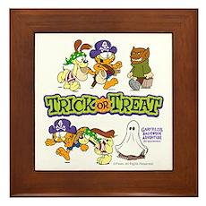 Trick Or Treat Framed Tile