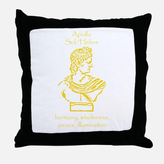 Sol Orange Throw Pillow