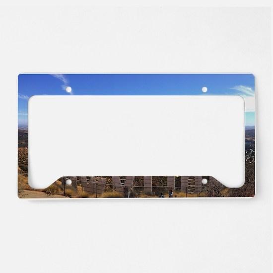 Hollywood Sign License Plate Holder