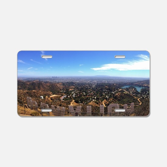 Hollywood Sign Aluminum License Plate