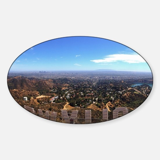 Hollywood Sign Sticker (Oval)