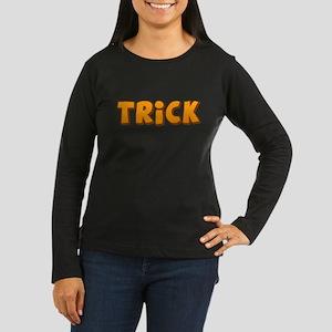 Halloween Trick Women's Dark Long Sleeve T-Shirt