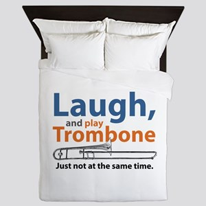 Laugh and Play Trombone Queen Duvet