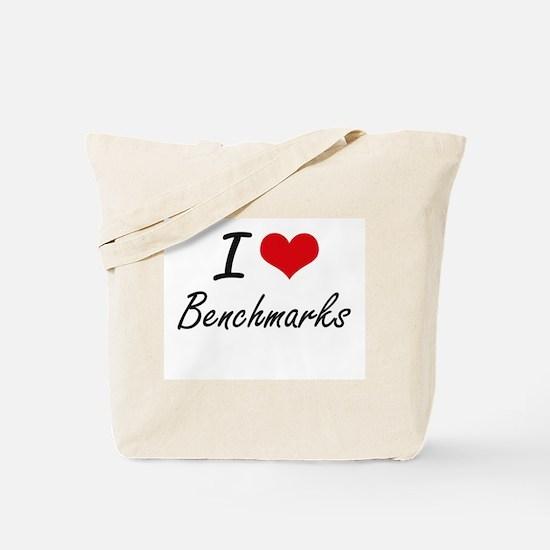 I Love Benchmarks Artistic Design Tote Bag