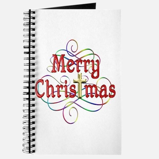 Merry Christmas Cross and Swirls Journal