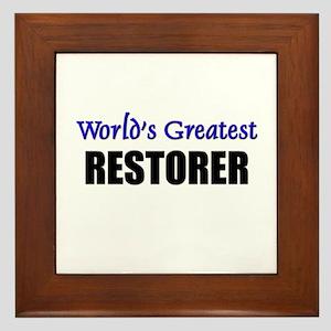 Worlds Greatest RESTAURANT MANAGER Framed Tile