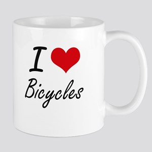 I Love Bicycles Artistic Design Mugs