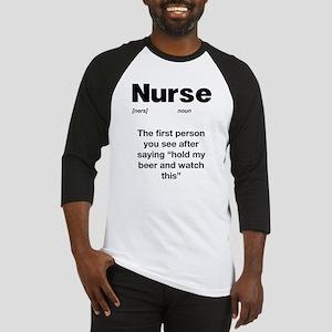 Funny Nurse Definition Baseball Jersey