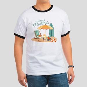 Merry Christmas Beach T-Shirt