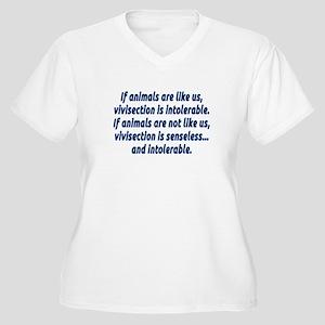 If animals are li Women's Plus Size V-Neck T-Shirt