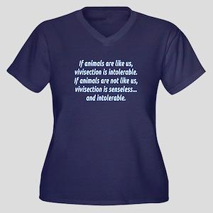 If animals a Women's Plus Size V-Neck Dark T-Shirt
