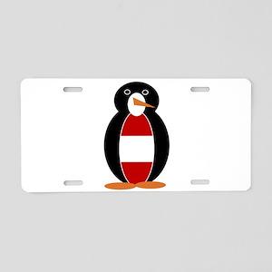 Austrian Penguin Aluminum License Plate