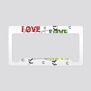 Cynical Love License Plate Holder