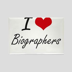 I Love Biographers Artistic Design Magnets