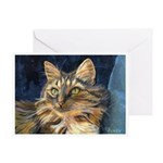 206 - Cat Julie Greeting Card