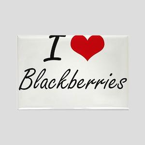 I Love Blackberries Artistic Design Magnets