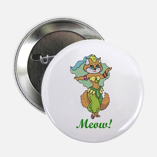 "Belly Dancing Cat 2.25"" Button (10 pack)"