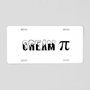 CREAM PI Aluminum License Plate