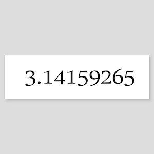 Number pi Bumper Sticker